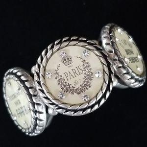 Vintage Shabby Chic Rhinestone Stretch Bracelet